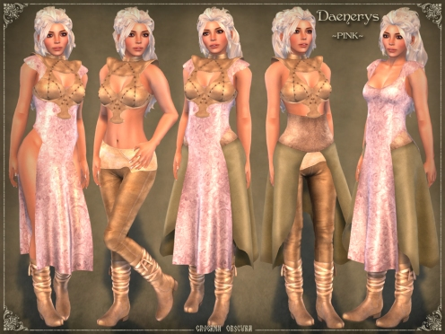 Daenerys Outfit *PINK* by Caverna Obscura