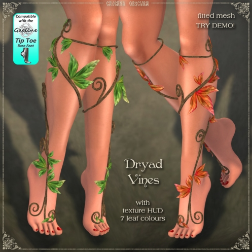 Dryad Vines by Caverna Obscura for Gaeline Tip Toe Feet