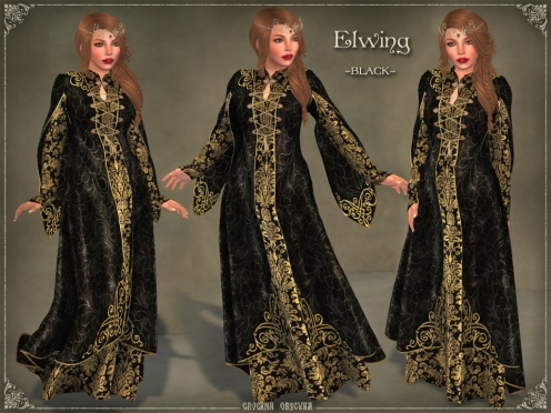 Elwing Gown *BLACK* by Caverna Obscura