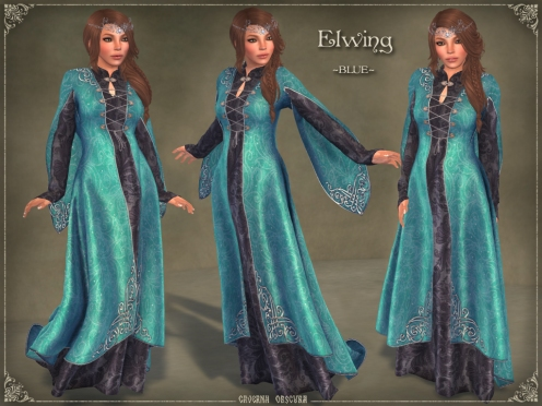 Elwing Gown *BLUE* by Caverna Obscura
