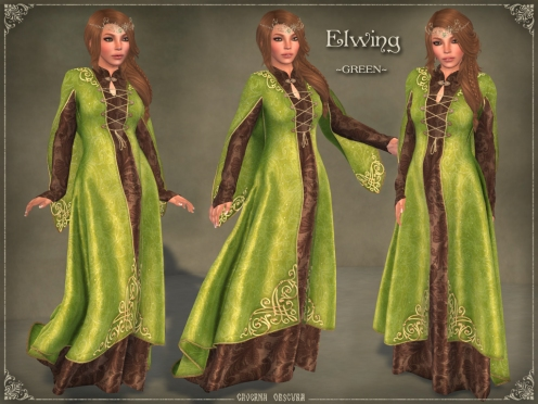 Elwing Gown *GREEN* by Caverna Obscura