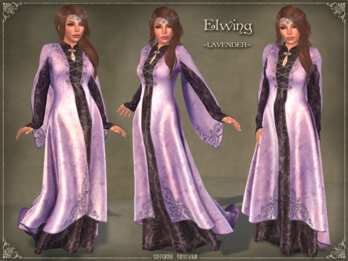 Elwing Gown *LAVENDER* by Caverna Obscura