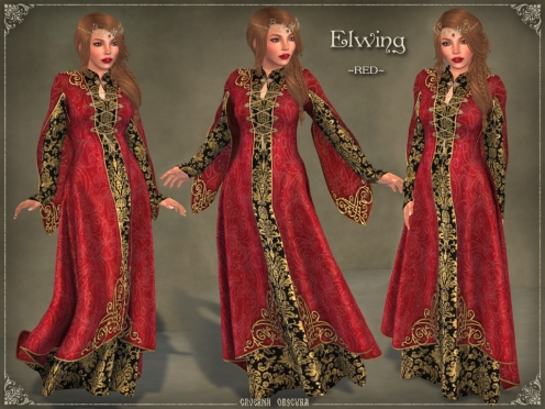 Elwing Gown *RED* by Caverna Obscura