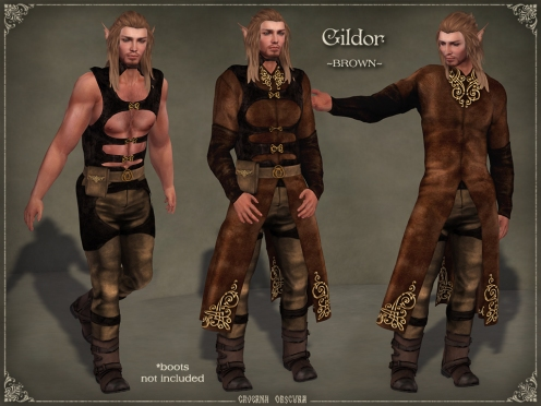 Gildor Outfit *BROWN* by Caverna Obscura