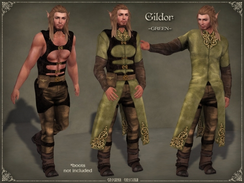 Gildor Outfit *GREEN* by Caverna Obscura
