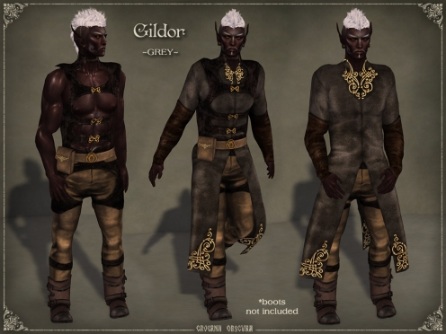 Gildor Outfit *GREY* by Caverna Obscura