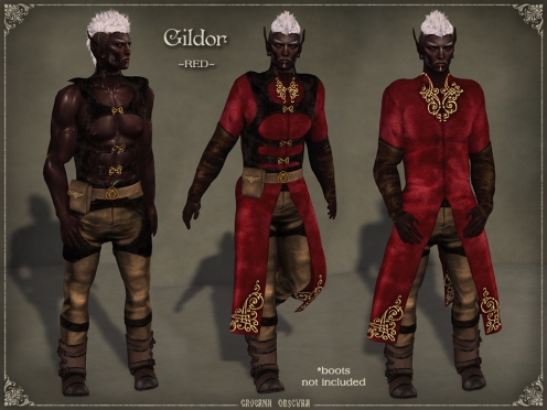 Gildor Outfit *RED* by Caverna Obscura