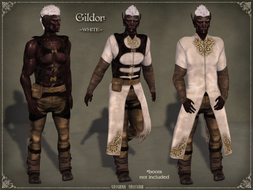 Gildor Outfit *WHITE* by Caverna Obscura