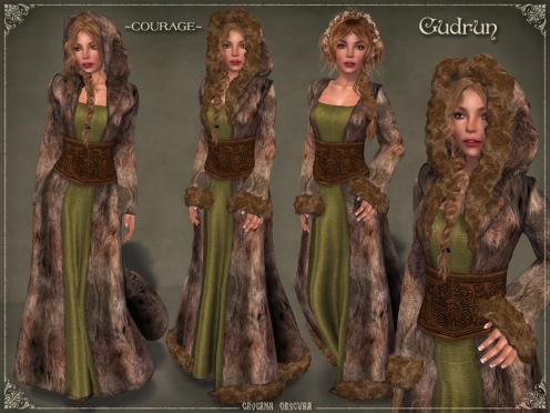Gudrun Fur Coat *COURAGE* by Caverna Obscura