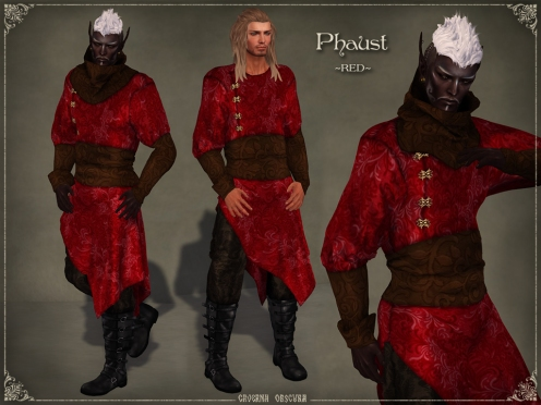 Phaust Outfit *RED* by Caverna Obscura