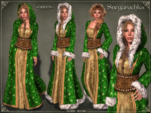 Snegurochka Gown *GREEN* by Caverna Obscura