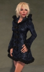 Faerie Winter Coat BLACK07