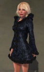 Faerie Winter Coat BLACK08