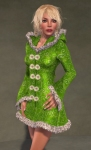 Faerie Winter Coat GREEN07