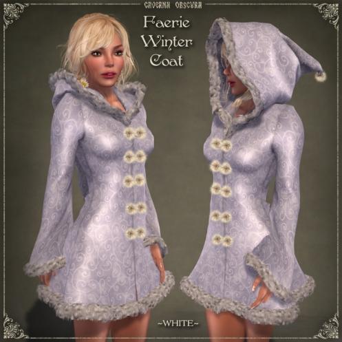 Faerie Winter Coat *WHITE* by Caverna Obscura