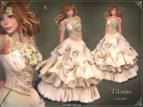Titania Gown *IVORY* by Caverna Obscura
