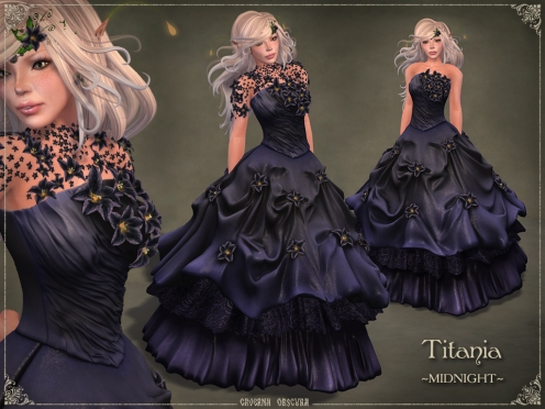 Titania Gown *MIDNIGHT* by Caverna Obscura