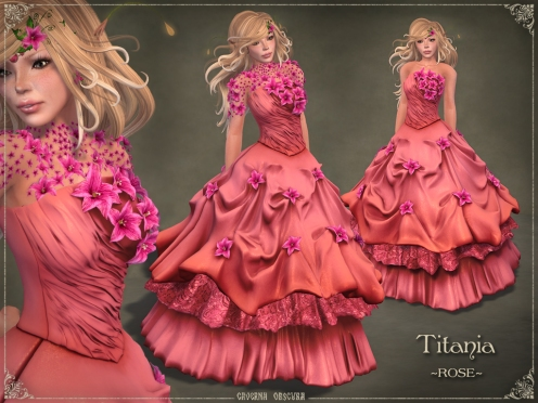 Titania Gown *ROSE* by Caverna Obscura