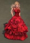 Titania Gown SCARLET01