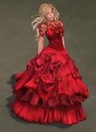 Titania Gown SCARLET02