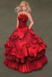 Titania Gown SCARLET05