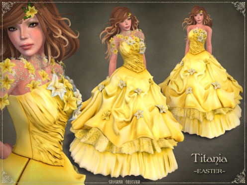 Titania Gown *EASTER* by Caverna Obscura
