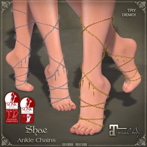 Shae Ankle Chains by Caverna Obscura