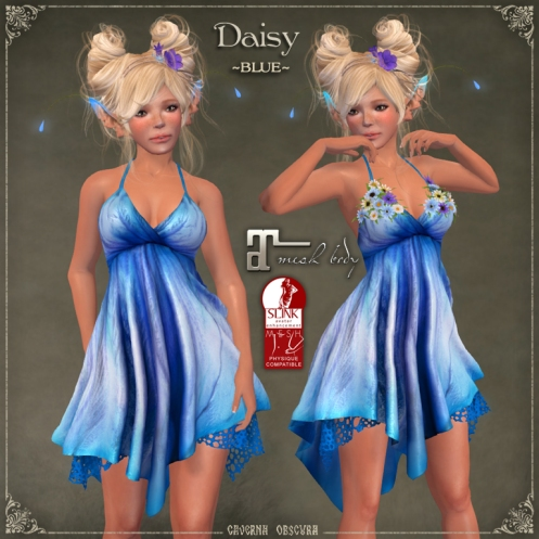 Daisy Dress *BLUE* by Caverna Obscura