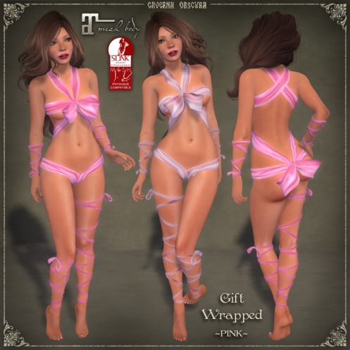 Gift Wrapped *PINK* Outfit by Caverna Obscura - mesh bodies version