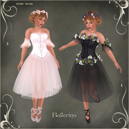 FGC Ballerina Outfit for mesh bodies by Caverna Obscura