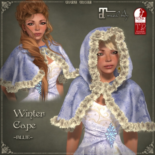 Winter Cape *BLUE* by Caverna Obscura