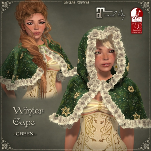 Winter Cape *GREEN* by Caverna Obscura