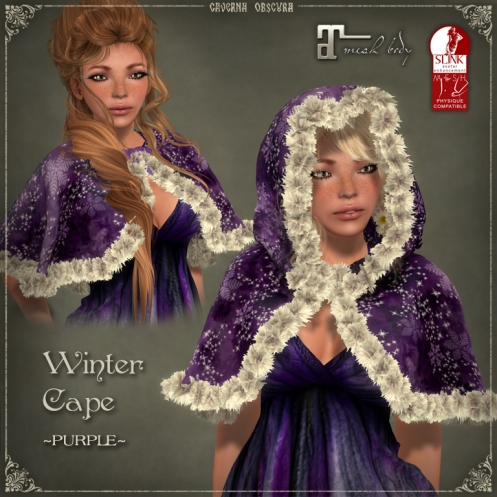 Winter Cape *PURPLE* by Caverna Obscura