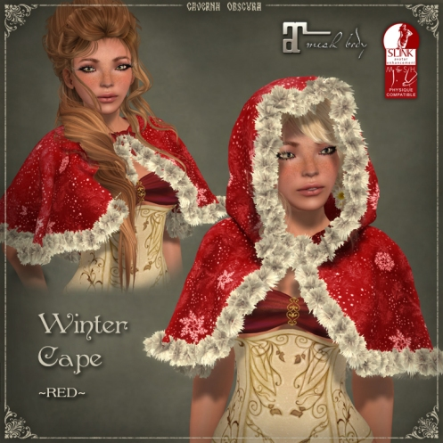 Winter Cape *RED* by Caverna Obscura