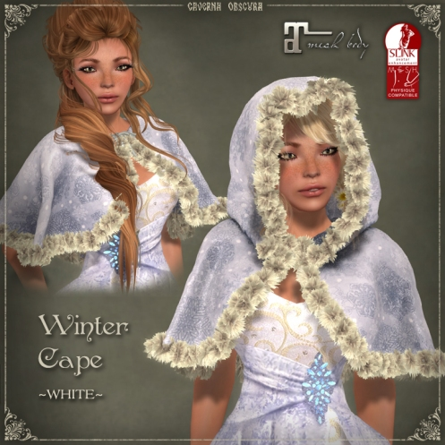 Winter Cape *WHITE* by Caverna Obscura