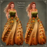 Autumn Leaves Gown BROWN v2