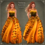 Autumn Leaves Gown PUMPKIN