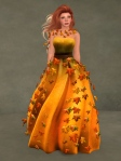 Autumn Leaves Gown PUMPKIN01