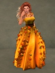 Autumn Leaves Gown PUMPKIN03