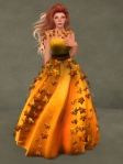 Autumn Leaves Gown PUMPKIN04