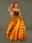 Autumn Leaves Gown PUMPKIN05