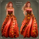 Autumn Leaves Gown RED