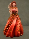 Autumn Leaves Gown RED04
