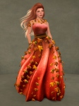 Autumn Leaves Gown RED05
