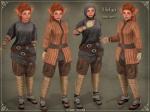 Helga Warrior OutfitBROWN